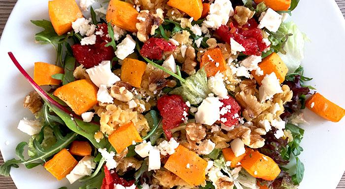 Pompoen linzen salade - Karlijnskitchen.com