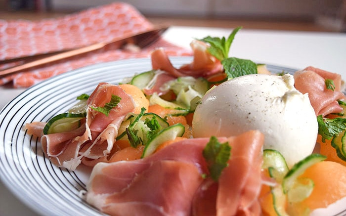 Melon And Nectarines With Parma Ham Recipe — Dishmaps