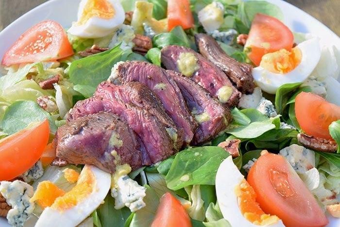 Blue cheese steak salad - Karlijnskitchen.com