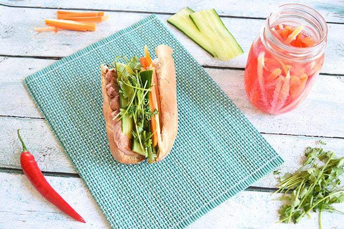 Banh mi - Vietnamese sandwich (low FODMAP, gluten- and lactose-free)