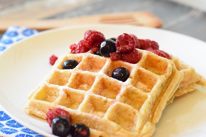 Healthy Waffles (low FODMAP, gluten-free and lactose-free)
