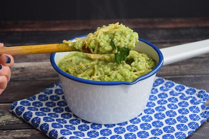 risotto met spinazie pesto - karlijnskitchen.com