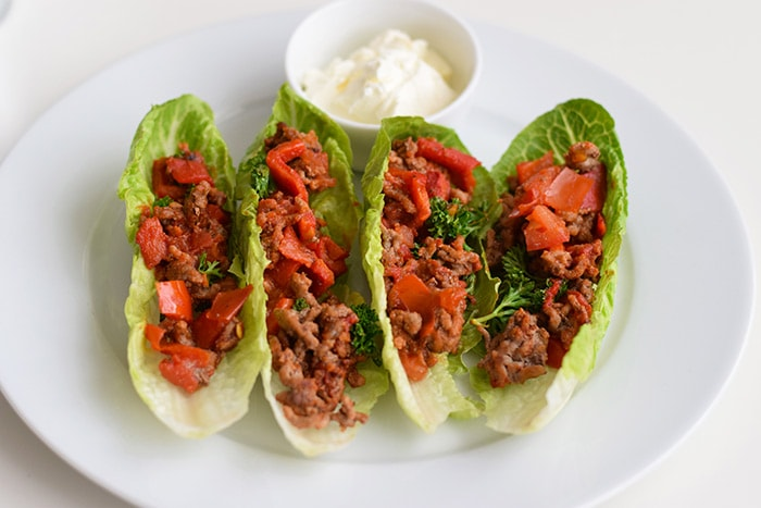low fodmap mexican lettuce wraps - karlijnskitchen.com