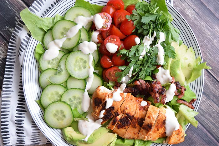 gegrilde kip salade - karlijnskitchen.com