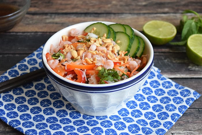 shrimp spring roll bowl - karlijnskitchen.com