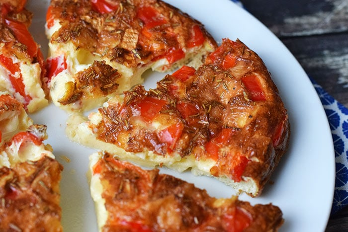 Oven-baked brie frittata (low FODMAP en glutenvrij)