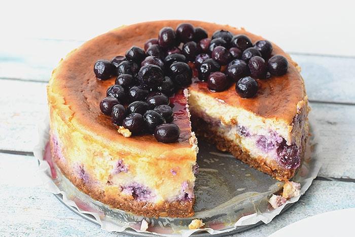 low fodmap blueberry cheesecake - karlijnskitchen.com