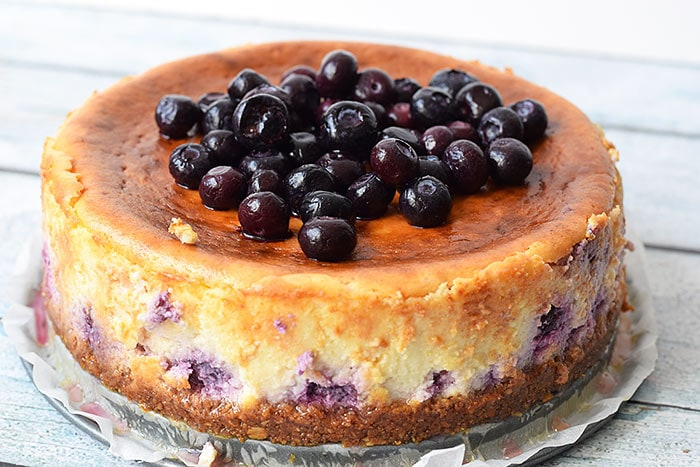 Low FODMAP blueberry cheesecake gluten free and lactose free