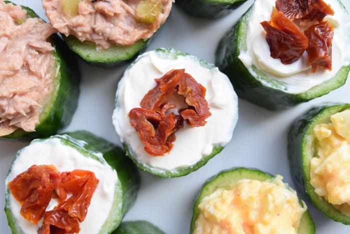 low FODMAP komkommerhapjes - karlijnskitchen.com